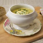 Leek, celery & stilton soup